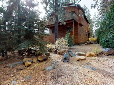 Photo for NEW LISTING! Spacious cabin w/fireplace-near skiing/hiking/biking & Lake Tahoe