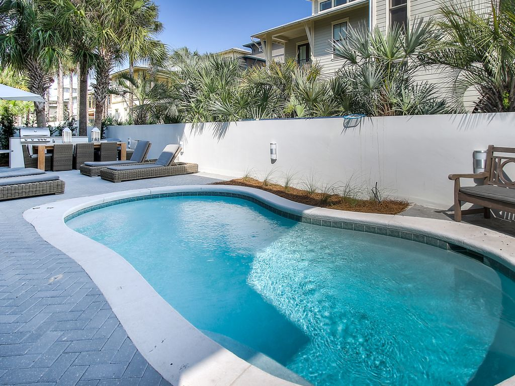 Seacrest Beach House Rental   Relax By The Pool On The Newly Renovated Pool  Deck