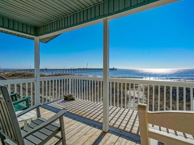 Photo for Newly Remodeled Beachfront Home by Pier
