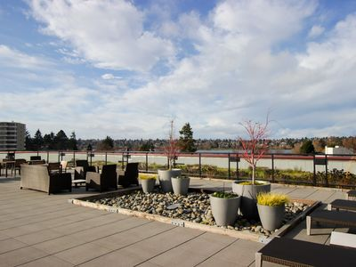 Photo for Chic lakefront condo w/ building amenities - Dogs welcome!
