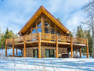 Photo for Wondrous 5BR Getaway Cabin with Hot Tub, 2 blocks from Terry Peak Ski Lodge