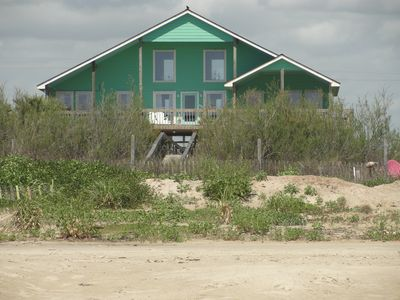 View of Coastal Chalet from the beach