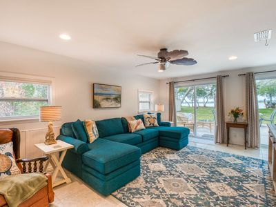 """Photo for RIVERFRONT """"Old Florida"""" Cottage!-Priv. Boat Ramp, Fire Pit, .3 mi. walk to Beach, close to Old City"""