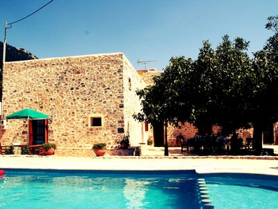 Photo for Traditional beautiful Greek house, 10 pers., Sfakia, Imbros, ZW, private pool