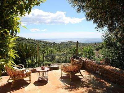 Photo for Villa , St Tropez region, private pool, garden and forest , marvellous sea vew.