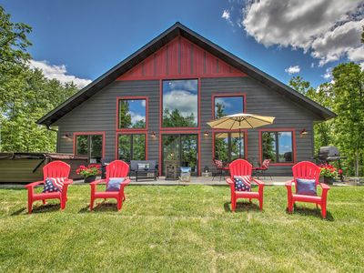 Photo for NEW! Lakeside Modern Chalet on the Crow Wing Chain