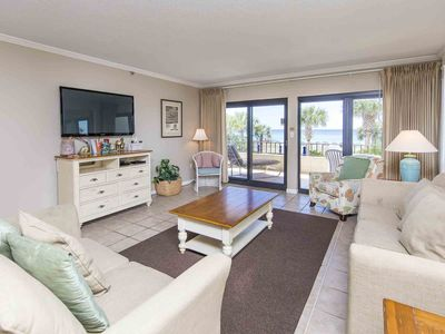 Photo for Sitting on the sand in Destin! Beachfront Condo with Tons of Amenities! Just Ste