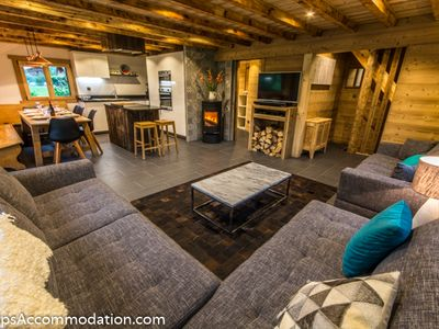 Photo for Luxury chalet in Samoens, 4/5 bedrooms, hot tub, sauna, games room, WiFi, fire
