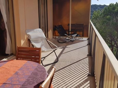 Photo for Ste Maxime beautiful apartment ideal for 6 people beautiful sea view