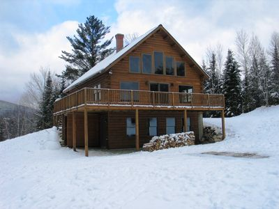 Photo for Beautiful log home with mountain views