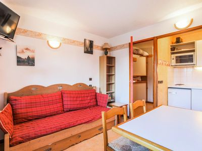 Photo for Studio with parking in the center of Valfrejus - Maeva private - Studio 4 people Budget