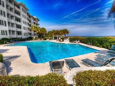 Photo for 2515 Sea Crest-Stunning 3 BR/3 BA! 5th floor ocean views! Complex pools/fitness! Walk to Coligny!