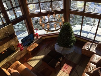 Family Room at Holiday Time. Seasons Greetings!