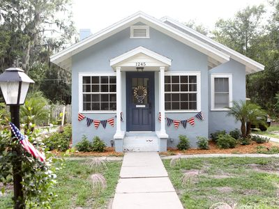Photo for Adorable, updated pool home - walking distance from downtown