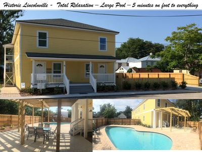 Photo for Historic Downtown - Heated Pool Aprl-Oct,  Pristine, Beatiful Back yard