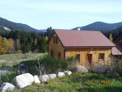 Photo for Chalet all wood in peace pets welcome
