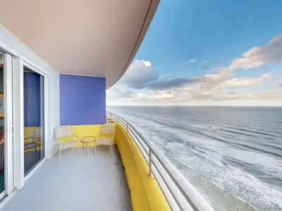 Photo for Luxurious oceanfront condo w/ shared pool, hot tub, and meandering lazy river