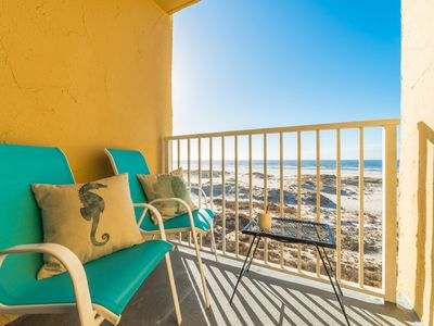 Photo for Beachfront Gulf Views!!! Adorable Corner Unit!!! Surreal Sunsets!!!