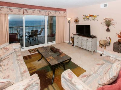 Photo for 2BR/2BA Gulf-Front Condo w/Balcony. Sleeps 6. W/D, WiFi, Pool, Free Activities - Driftwood Towers 5F