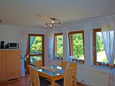 Photo for Holiday apartment with logia and lake view - Maisonette - Apartment - Mönchgut 5 with Logia lake view