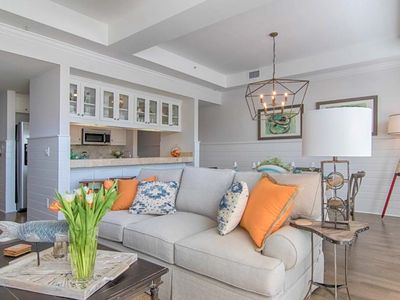 Photo for Elegant condo in downtown Carillon w/ balcony & shared pool - close to the beach
