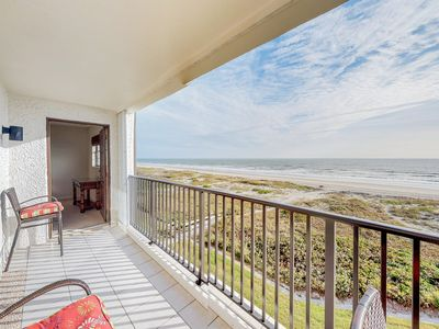 Photo for Oceanfront condo with sweeping water views, shared pool, & direct beach access
