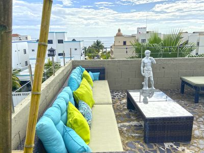 Photo for Aqua 2 Prime Downtown Location Steps from the Beach Puerto Morelos