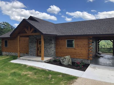 Photo for Stunning Log Home Bordering Wildlife Refuge and Big Spring State Park
