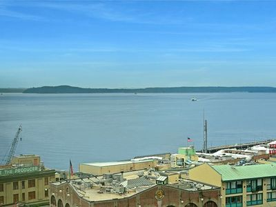 Photo for Spacious Suite overlooking Pike Place Market with a Puget Sound backdrop! Pet Friendly!