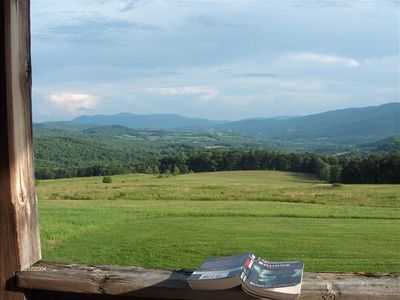 Pownal Valley and Berkshires from porch