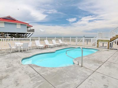 """Photo for Ready To Rent Now! FREE BEACH GEAR! Beachfront, Pets OK, Pool, Wi-Fi, 3BR/2BA """"Just Beachy"""""""
