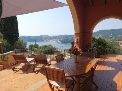 Photo for Lerici Holiday House garden parking space and sea view (Cod. CITRA 011016-LT-0426)