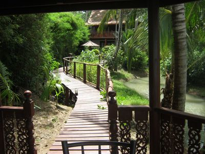 Villa and Private walkway from Beach
