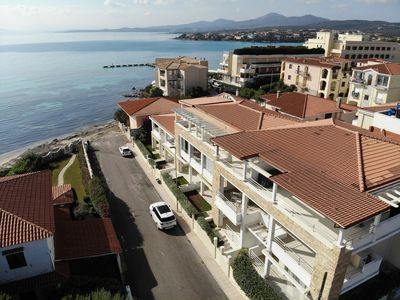 Photo for Modern 2 room apartment with air conditioning and terrace - only 50m to the beach