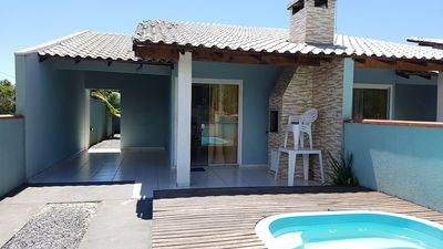 Photo for House 5, with pool, barbecue and Wifi, 600m from the beach, for up to 8 people