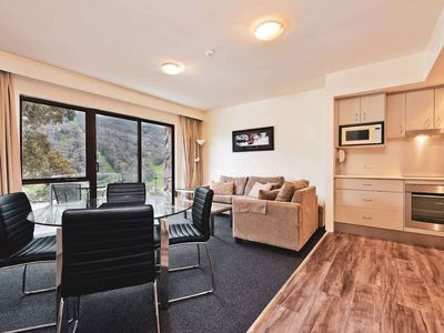 Photo for Well equipped apartment with a private balcony and mountain views