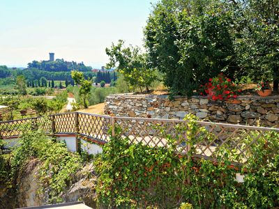 Photo for Charming olive farm apartment, private patio, beautiful views, close to village