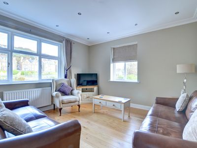 Photo for Llys y Dderwen is a modern, well equipped apartment in the centre of the seaside town of Aberystwyth
