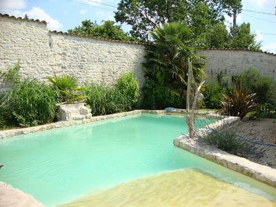 Photo for Traditional Limestone Cottage With Swimming Pool, Attractive Terrace And Good La