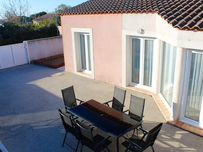 Photo for Entire house for 6 people max with private pétanque court and barbecue