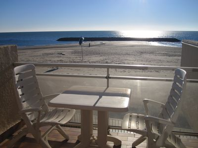 Photo for Apartment at the Grau d'Agde, waterfront, on the beach with Internet
