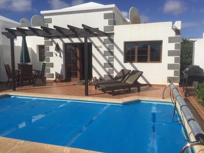 Photo for Private secluded villa with pool, fully equipped WIFI and U.K. Tv.