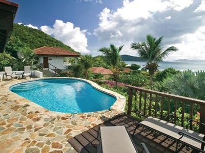 Photo for Stunning Views, Free-Form Swimming Pool, Two Pavilions, Entertainment Area, A/C, Free Wifi
