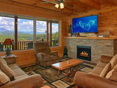 Photo for Awesome View Lodge | Host Your Group in Luxury | LeConte Mountain Views | Theater & Game Room | Wifi