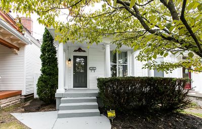 """Front of house - just steps from """"Restaurant Row"""" on Bardstown Road."""