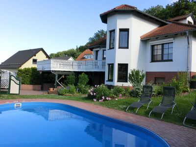 Photo for Spacious holiday villa with private swimming pool in the romantic Harz