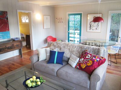 Upper suite has spacious open living and dining area