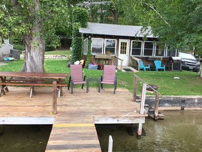 Photo for Family Friendly Lake Front Cabin  2 night minimal stay on Lake Dunmore