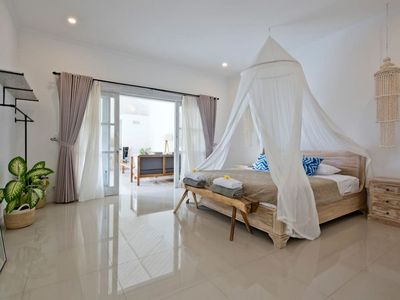 Photo for WOW! 3 Bed Canggu Beach Villa. 3 minute walk to the sand!