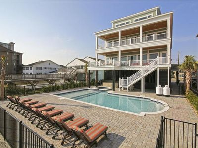 Photo for The Haven, Luxury Oceanfront Beach House with Ocean View Porches, Game Room, Hot Tub and Beautiful Pool Area